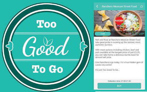 """உணவு வீணாவதைத் தடுப்பதற்கான மொபைல் ஆப் """"too good to go"""""""