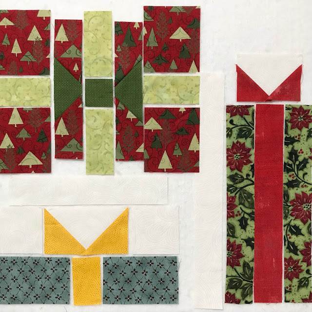 A Scrappy Happy Holidays Mystery Sew Along - Month 3 by Thistle Thicket Studio. www.thistlethicketstudio.com