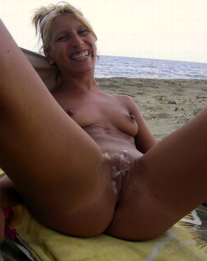 Cum on the beach