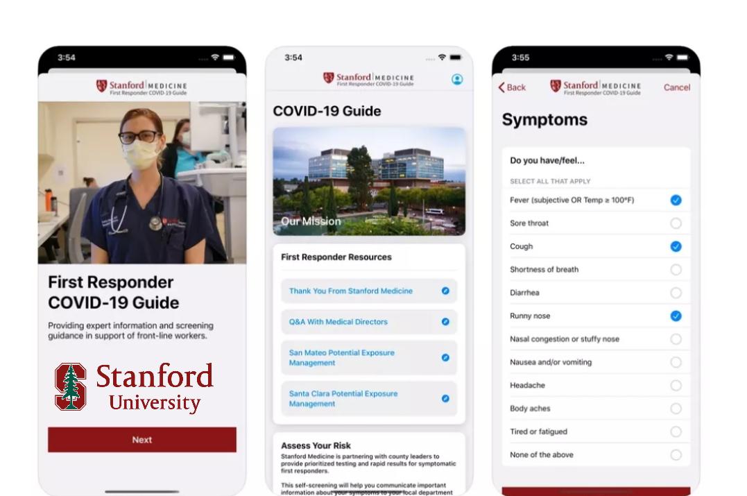 جامعة ستانفورد تطلق تطبيق جديد لمساعدة الاشخاص المصابين بفيروس كورونا COVID-19 - إبداع تقني