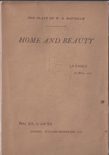 Home and Beauty by W. Somerset Maugham First edition, 1923