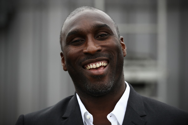 Former England footballer Sol Campbell attends a Vote Leave rally on June 4, 2016 in London, England