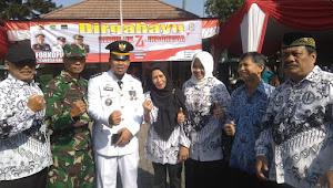 Peltu Shahril (Dansub 14-22) Hadiri undangam Upacara Bendera HUT RI ke-74 di Kecamatan Bandung Kidul