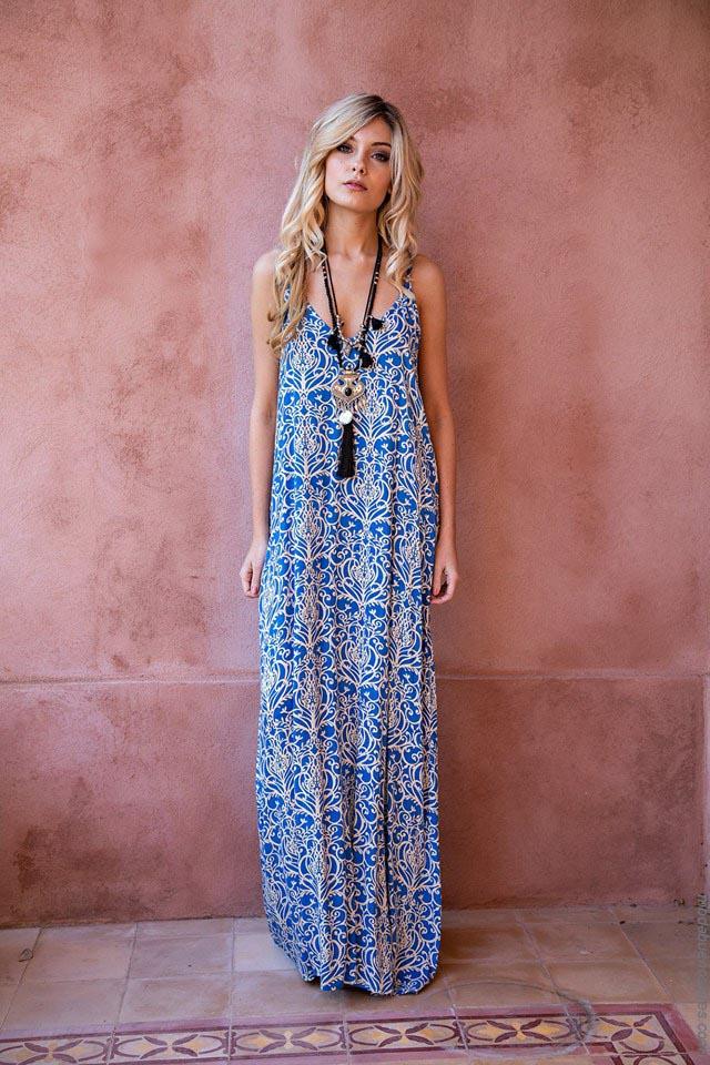 Vestidos de moda largos verano 2019. Ropa de moda mujer primavera verano 2019.