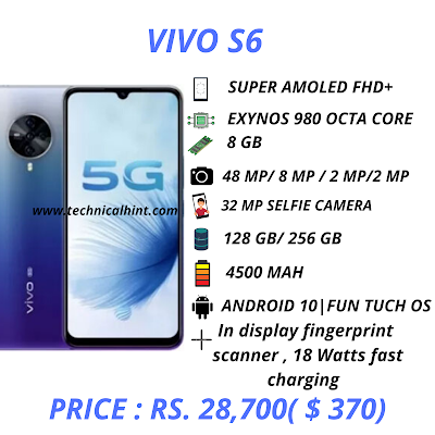 vivo s6 specifications