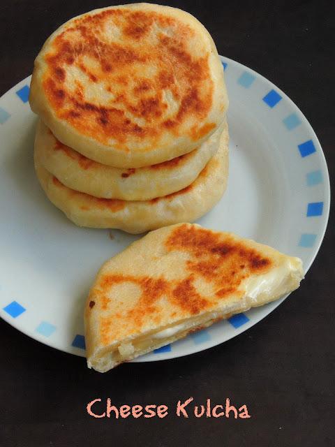 Cheese Kulcha, Laughing cow cheese kulcha