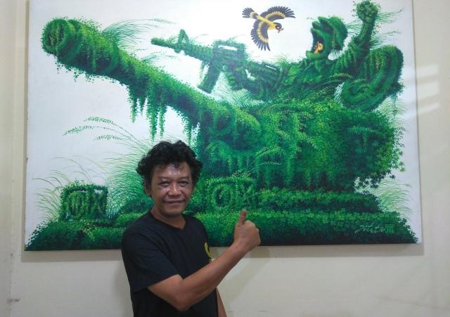 Kartunis Senior Semarang Jitet Kustana Pamerkan Karya Juara di Eropa