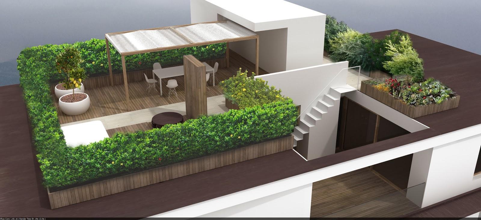 La casa dove si trova il cuore lavori in corso attico for Terrazza design
