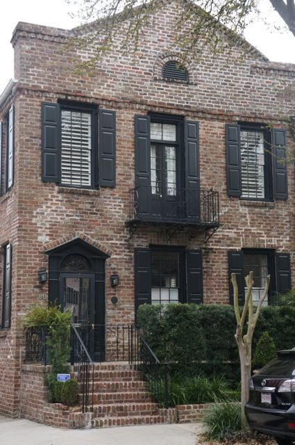Red brick houses with black trim design indulgence - Houses with black windows ...