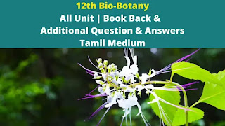 12th Bio-Botany All Unit | Book Back &   Additional Question & Answers