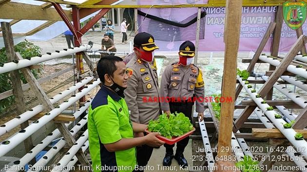 Polres Bartim Gandeng Penyuluh Pertanian Dalam Program Percontohan Ketahanan Pangan