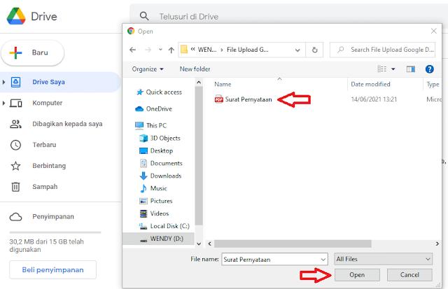 Mengupload File PDF ke Google Drive