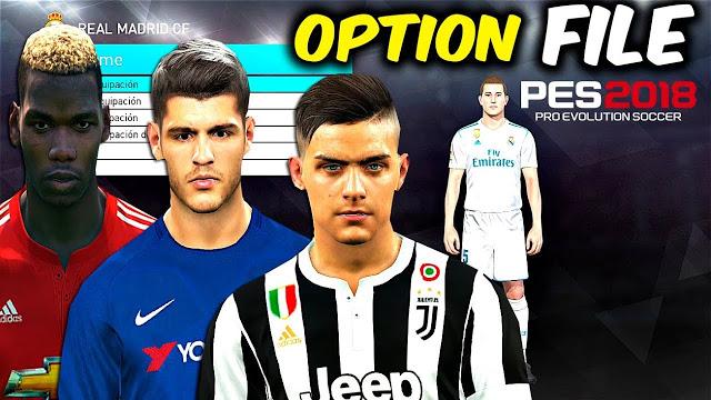 PES 2018 PC & PS4 OPTION FILE