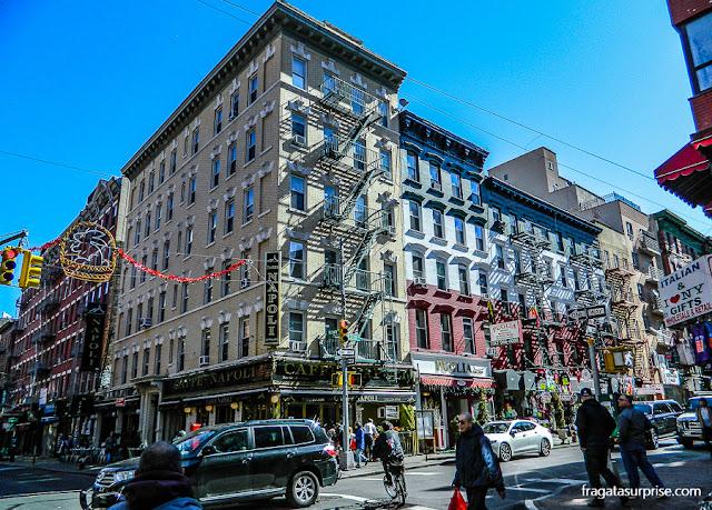 restaurantes italianos em Little Italy, Nova York