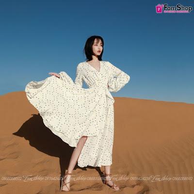 Váy maxi đi biển V299
