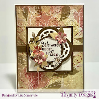 Stamp/Die Duos: Bee-Lieve, Embossing Folder Die/Duo: Quatrefoil, Custom Dies: Pierced Circles, Circles, Rectangles, Matting Rectangle, Squares, Pierced Squares, Bitty Blossoms, Paper Collection: Beautiful Blooms