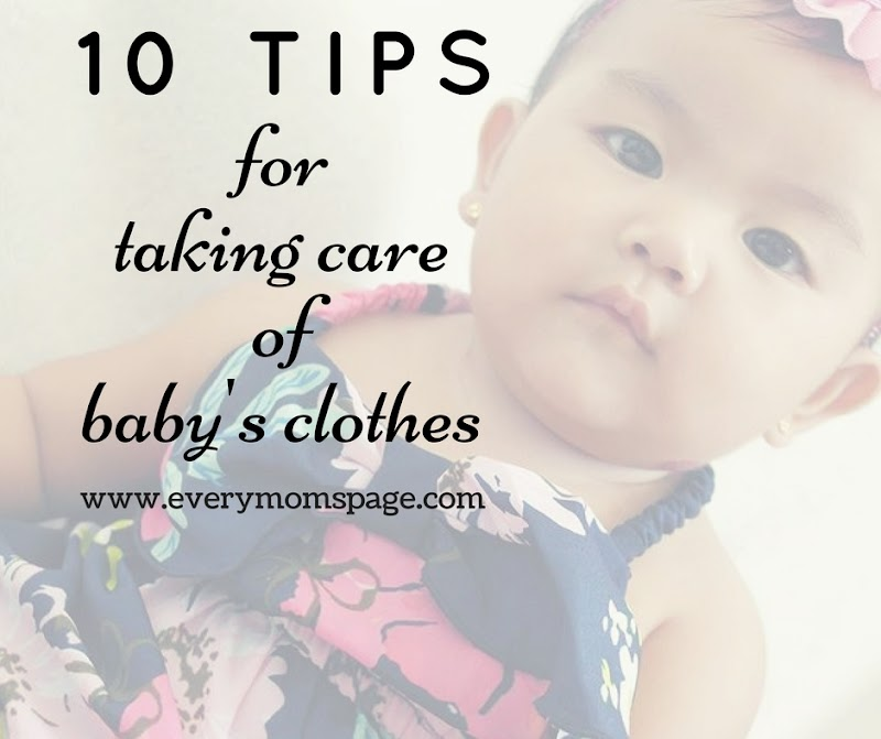 10 Tips For Taking Care Of Baby's Clothes