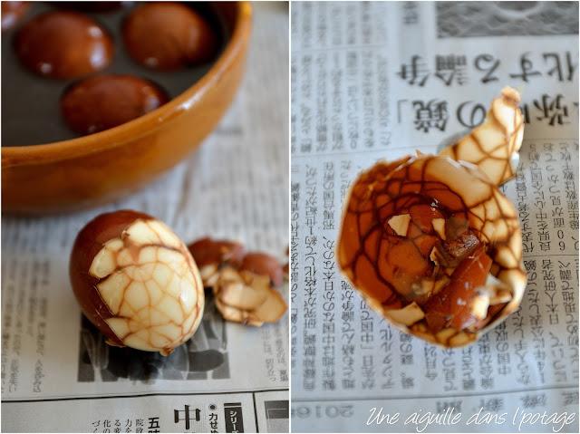 Taïwan marble tea egg