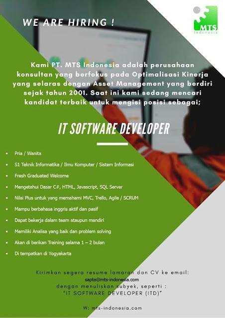Lowongan Kerja IT Software Developer