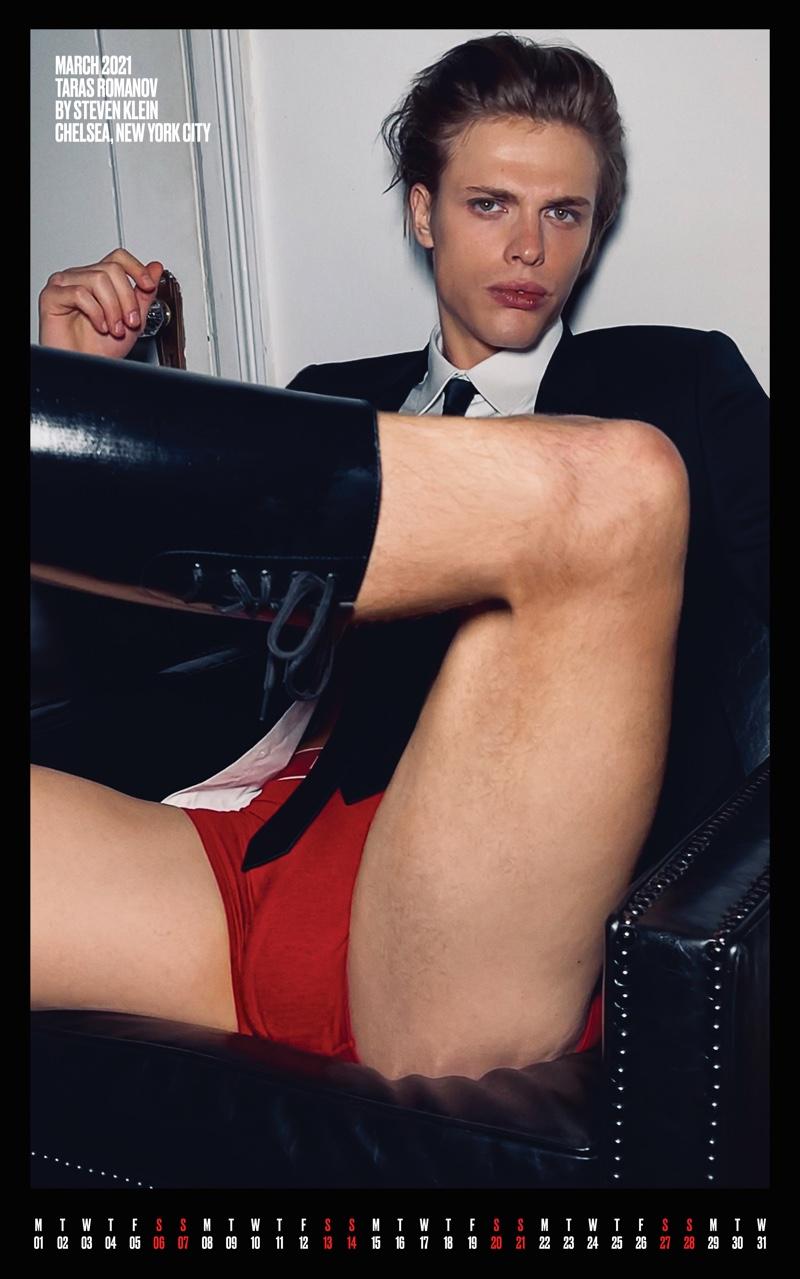 Taras Romanov for March. Photo: Steven Klein for V Magazine