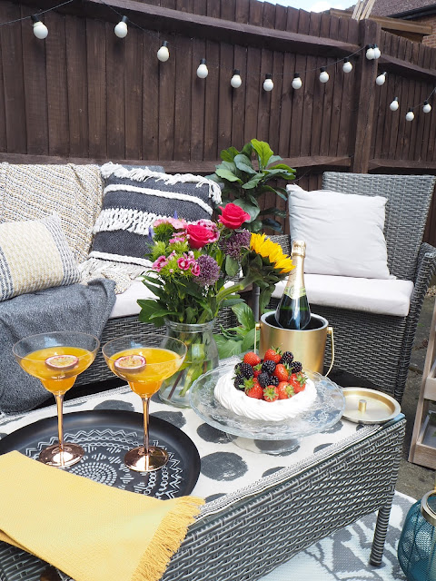 How to create an outdoor living room in your garden this summer. summer garden makeover in collaboration with Sainsbury's Home.