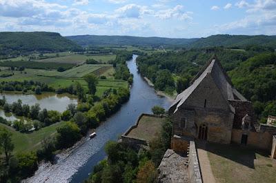 El riu Dordogne des del castell de Beynac