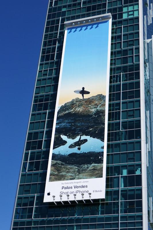 Palos Verdes Shot on iPhone surfer billboard