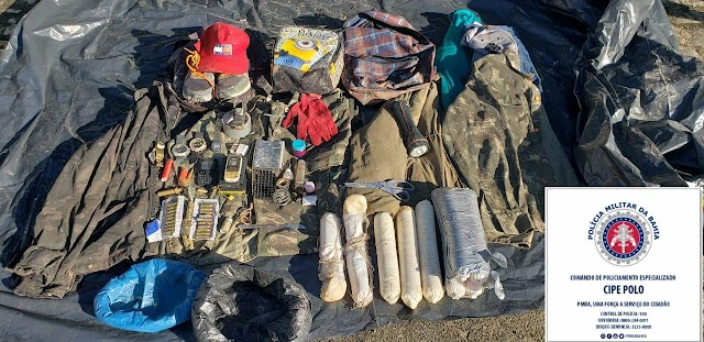 Explosivos apreendidos com grupo que atacou banco