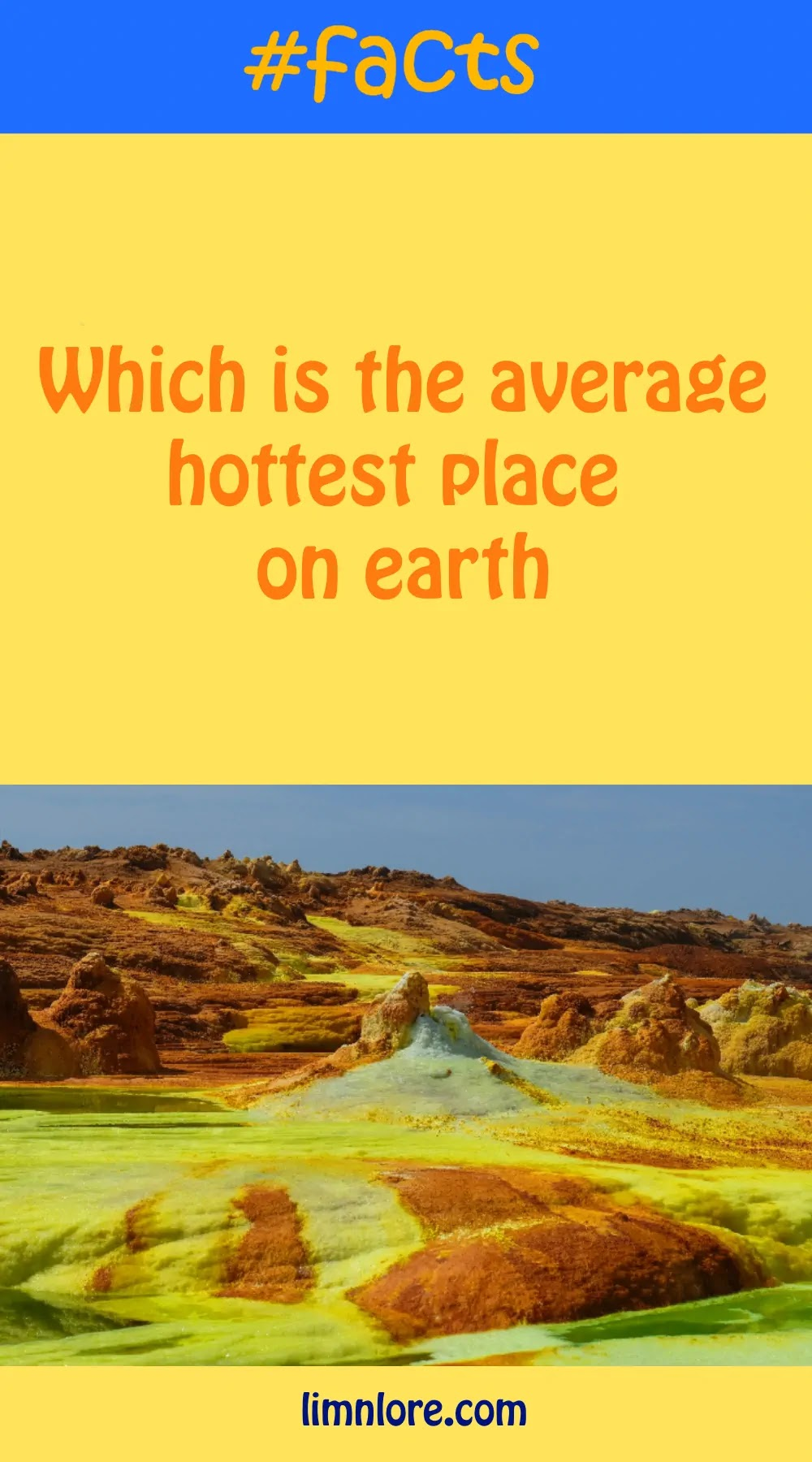 facts about the hottest place on earth in average