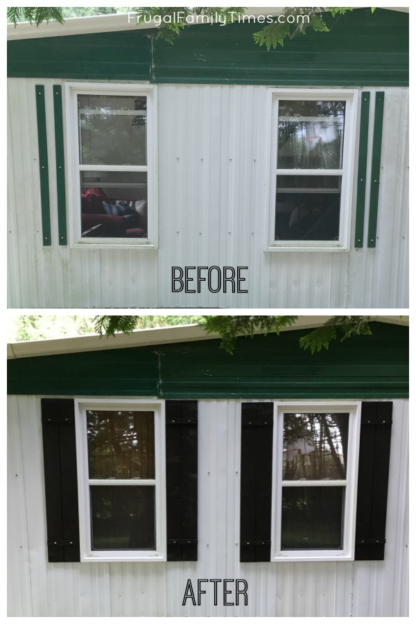 easy DIY wood shutters
