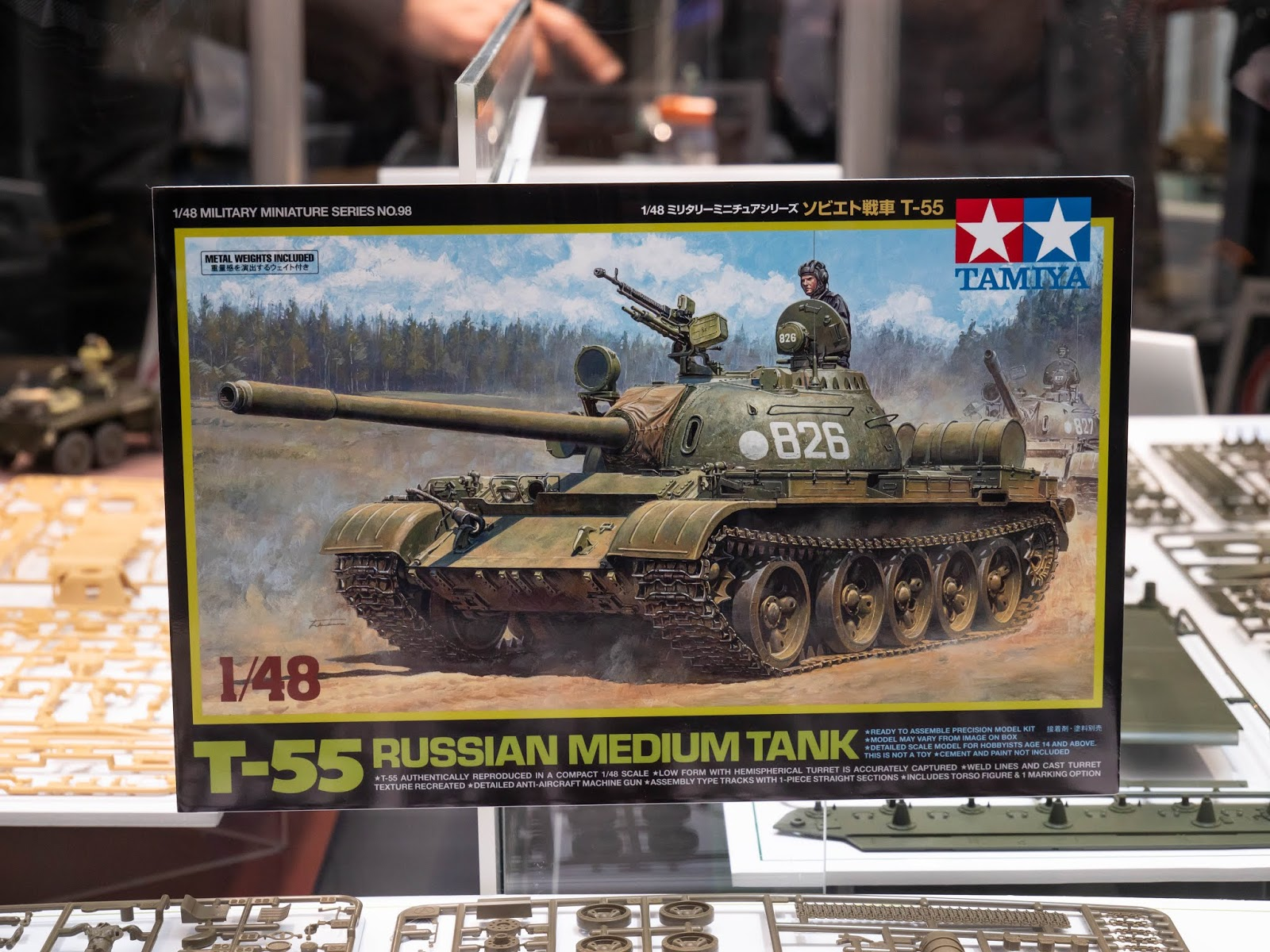 Tamiya 32598 1//48 Scale Military Model Kit Soviet Russian Medium Tank T-55