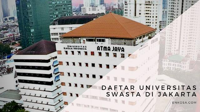 Daftar Universitas Swasta di Jakarta Terbaru