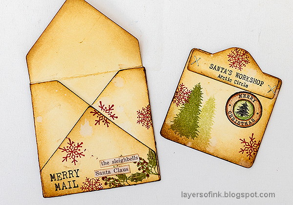 Layers of ink - Christmas Envelope and Card Tutorial by Anna-Karin Evaldsson.