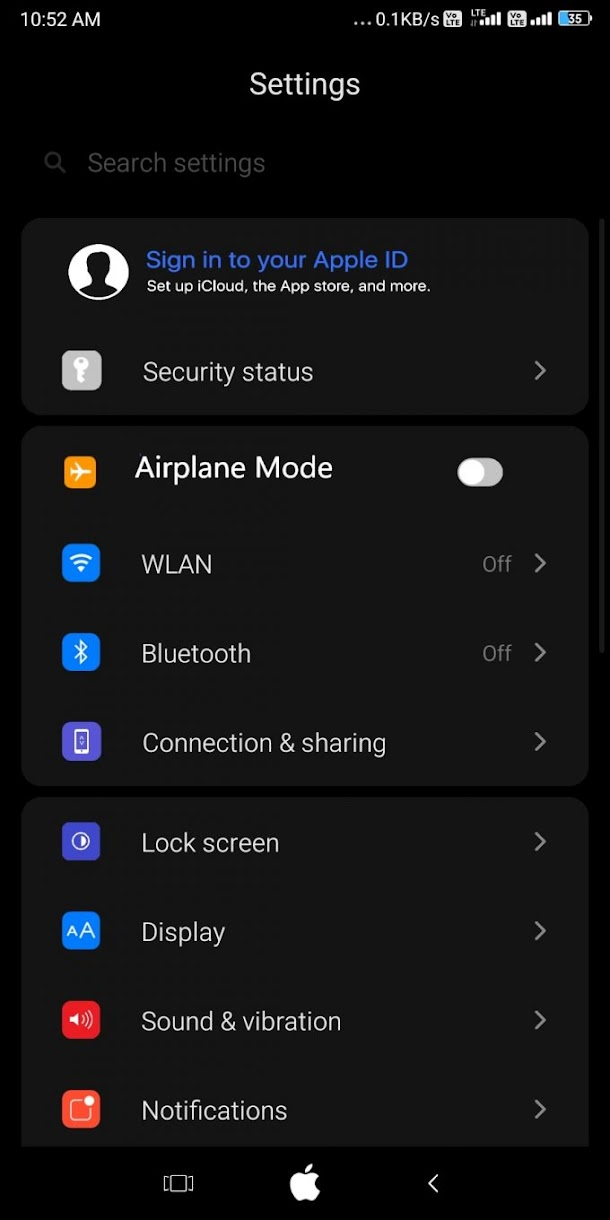 Download Tema iOS 14 MIUI 11(.MTZ)