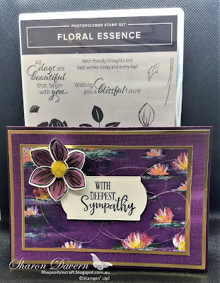 Floral Essence, Peaceful Moments, Lilly Impressions DSP, Sympathy cards, Stampin' Blends, Saleabration 2020, Stampin' Up, rhapsody in craft, Art with heart