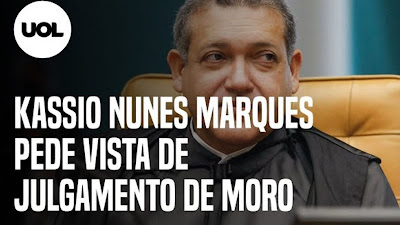 Kassio Nunes Marques pede vista de julgamento de Moro