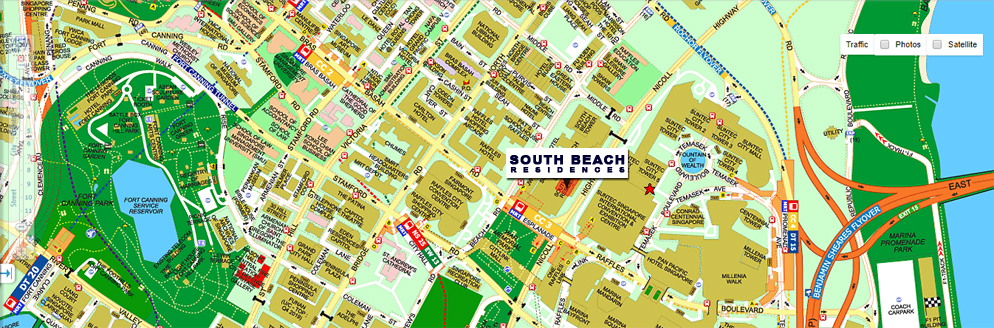 South Beach Residences Location Map