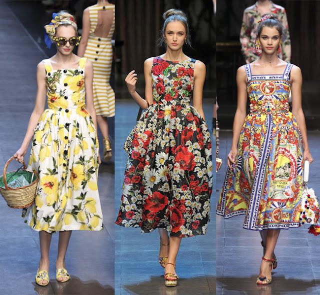 Resultado de imagem para vestido florido dolce e gabbana