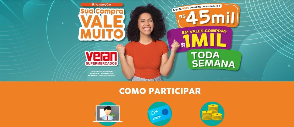 Promoção Veran Supermercados 2020 Sua Compra Vale Muito Mil Reais Toda Semana