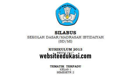 Silabus Kelas 1 Semester 2 Kurikulum 2013 Revisi 2021 Websiteedukasi Com