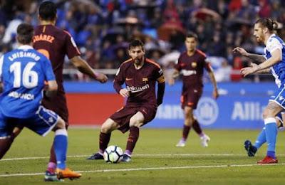 برشلونة يتوج بطل للدوري الاسباني 2017/2018