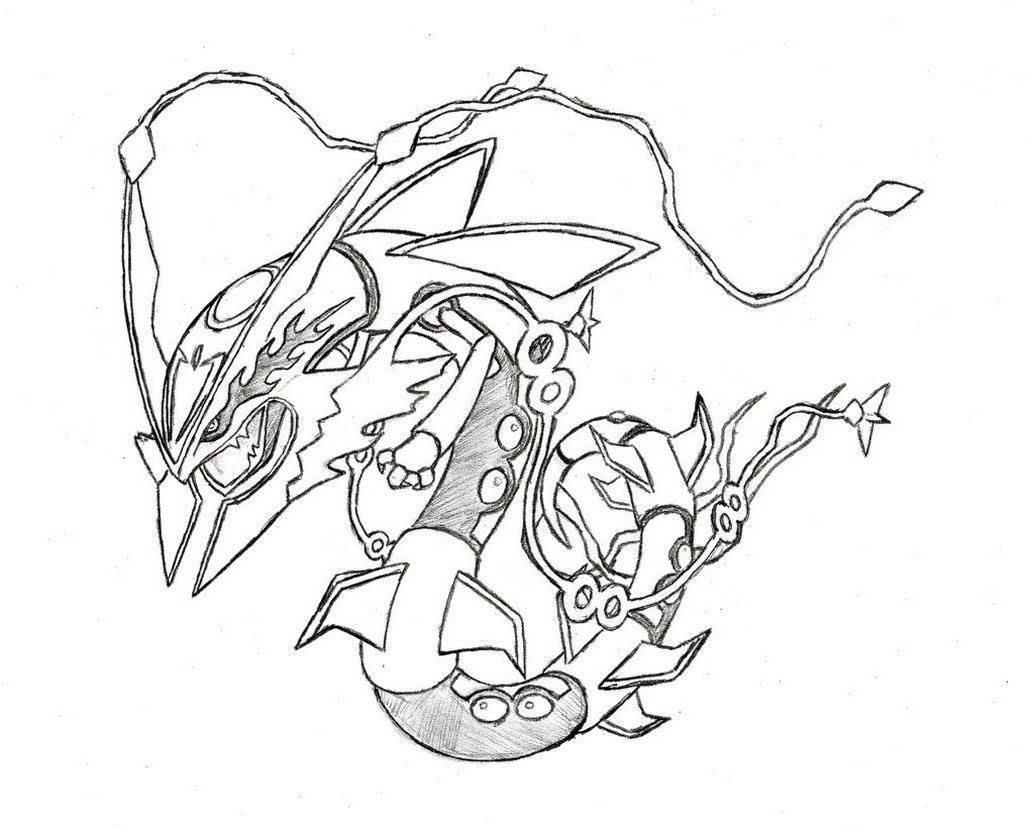 Legendary Rayquaza Pokemon Coloring Pages - Free Pokemon ...