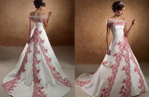 Female Fashion About: Red & Burgundy Wedding Dress