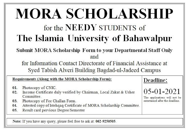 MORA Scholarship IUB-2021