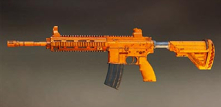 Pubg Mobile M416 skin: Orange Rugged