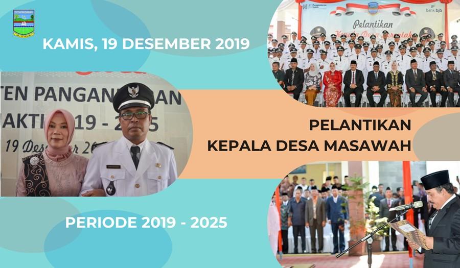 Pengambilan Sumpah dan Pelantikan Kepala Desa Periode 2019-2025 oleh Bupati Pangandaran