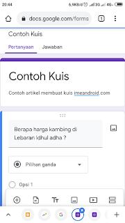 google form untuk ujian