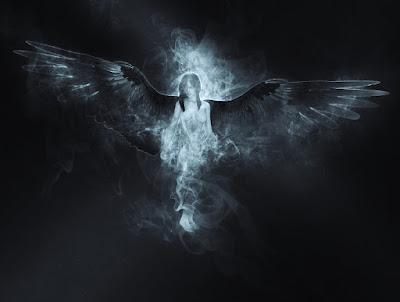 Tore up his wings - war in heaven began