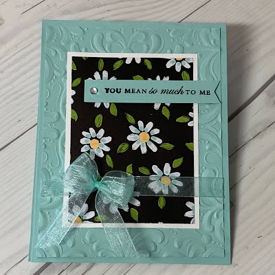 Floral greeting card using Sale-a-Bration Flower & Field Designer Series Paper