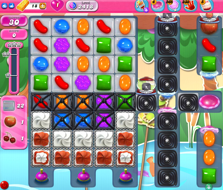 Candy Crush Saga level 2418